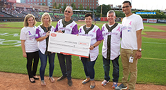 2019 Giant Eagle check presentation Akron