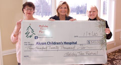 Holiday Tree Festival 2019 check presentation